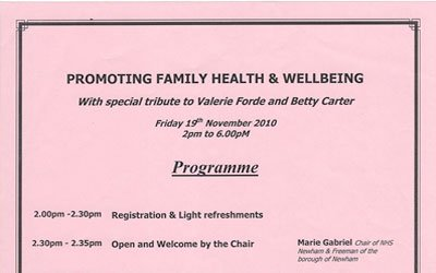 Promoting Family Health & Wellbeing
